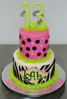Love Polkadots And Monograms By Felicia I Wanna Bake It - Monogram birthday cakes