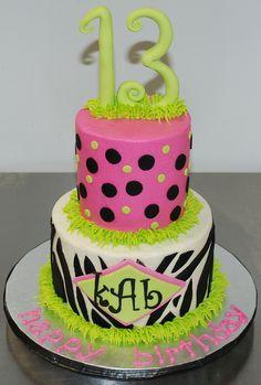 zebra birthday cakes | Zebra & Polka Dots Birthday Cake | Flickr - Photo Sharing!