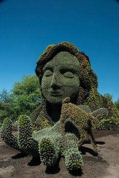 Monumental Plant Sculptures at the 2013 Mosaicultures Internationales de Montréal