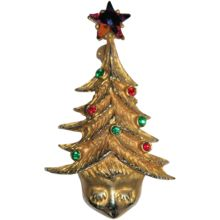 RARE Tancer II Christmas Eyelash Girl Tree Hat Pin ~ Book Piece