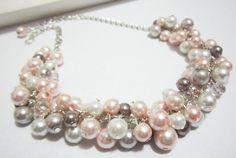 Collana da sposa perla perla bavaglino collana di SLDesignsHBJ