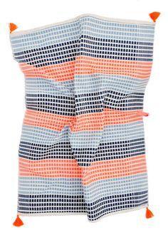 Tasseled Neon Stripe Tea Towel    ...it's the little things...