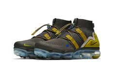 Nike Air VaporMax Utility Ridge Rock release info footwear sneakers Nike Air Vapormax, Shoes Sneakers, Sneaker Boots, Sneakers Fashion, Nike Shoes, Dope Fashion, Sneaker Magazine, Peat Moss, Exclusive Shoes