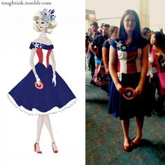 Love it! I'm gonna make me one of these someday ;)   The Captain America Dress Comes To Life [Cosplay]