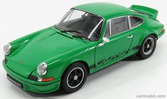 WELLY WE18044GR Scale 1/18  PORSCHE 911 CARRERA RS 2.7 COUPE 1973 GREEN BLACK