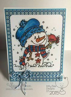 Hello friends. It is that time again for Kitty Bee Designs Aloha Friday Challenge. This weeks challenge is Winter Fun. Our sponsor for this challenge is Bugaboo Designs. The image is printed on a piece of 100 lb white cardstock and colored with Copic markers. I used: R24, R35, R46, B04, B05 The pattern paper+ Read More