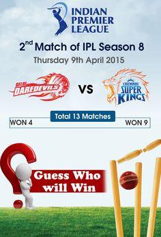 #IPL2015 2nd Match..... Chennai Super Kings vs Delhi Dare Devils #finlace #ChennaiSuperKingsVsDelhiDareDevils #CHEvsDEL
