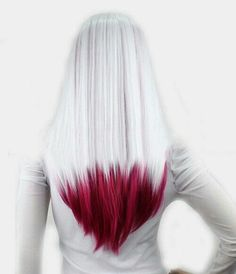 20 ideas for red ombre hair. List of red ombre hair colors. Red ombre hair color ideas for a bold new look. Red Ombre Hair, Purple Hair, Purple Ombre, Pastel Hair, Grey Hair With Purple Tips, Hair Tips Dyed Red, Cool Hair Dyed, Red Dip Dye Hair, Blue And Red Hair