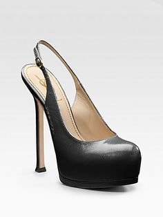 Yves Saint Laurent - Tribute Two Platform Slingbacks - Saks.com, size 38.5