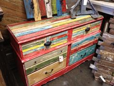 Charming Multi Colored Reclaimed Furniture   ATu0026T Yahoo! Search Results