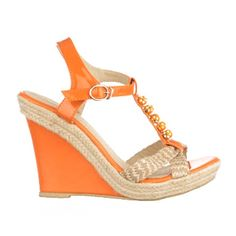 SANDALE ORANGE CORRAL RAFFIA