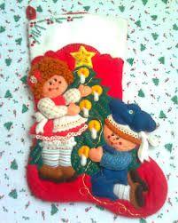 Resultado de imagen para nacimientos navideños de fieltro