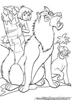 Dibujos de El libro de la Selva para Imprimir y colorear