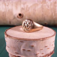 vintage class ring from detroit