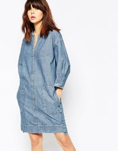 Image 1 of See By Chloe Denim Shift Dress
