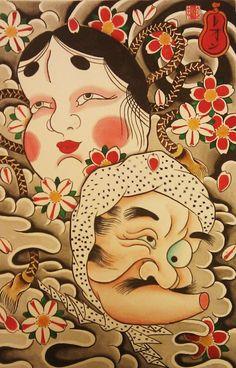Horishishi - Hyotokko & Okame. S)