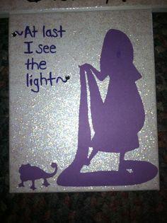 Tangled canvas! Rapunzel Disney Princess canvas craft