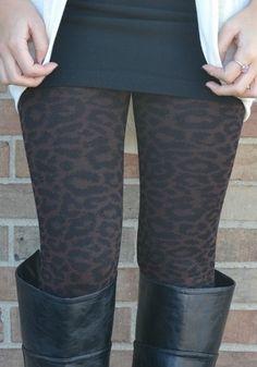 cute subtle cheetah leggings