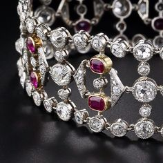 Edwardian diamond and ruby bracelet.
