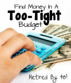 Find Money in a Too Tight Budget!