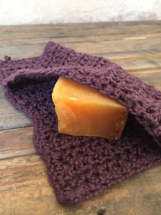 Wash Cloth Handmade Organic Cotton Crochet Soap by roothandcrafts
