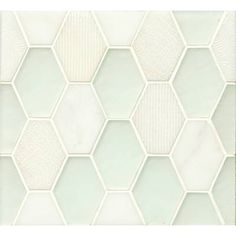 Retro Hexagon Pattern Mosaic Mohair Stone and Glass Tile (Box of 11 Sheets) (Silk), Brown, Bedrosians Ceramic Mosaic Tile, Stone Mosaic Tile, Mosaic Glass, Hexagon Tiles, Hexagon Pattern, Black Interior Doors, Glass Installation, Glass Subway Tile, Decorative Tile