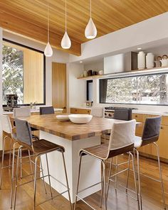 We're loving this wooden contemporary #kitchen design! #interior