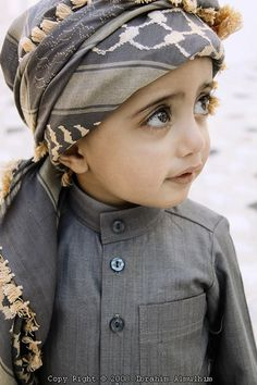 Arab child/ Those eyes... Adorable!