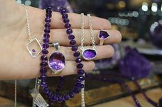 WEBSTA @ wishingstoneseatac - #StoneoftheDay February Birthstone!! Amethyst Greek mythology told of the maiden Amethystos, whom Artemis turned to colorless quartz to protect her from Dionysus, who then attempted to revive her with wine, but succeeded only in staining the crystal violet. Healing properties