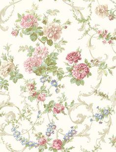 """Cottage Garden Villa Tapestry 33' x 20.5"""" Floral 3D Embossed Wallpaper"""