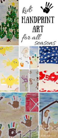 Great kids handprint (and footprint and even fingerprint) art for all holidays and seasons! LOVE the idea of recording their precious little paws for all time with these DIY ideas! heatherednest.com: