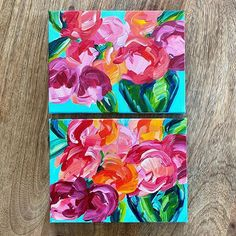 My studio sale starts tomorrow morning at 10 AM EST! These two small floral paintings and several more will be available on www.ellebyers.com. 🌼🌸 Elle Byers Art Floral Paintings, Small Art, Studio, Study, Flower Paintings