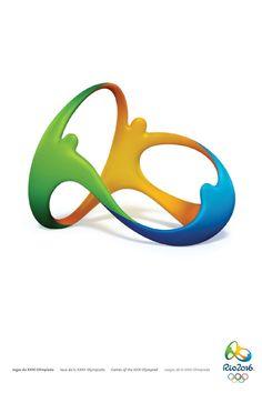 Pôsteres oficiais da Olimpíada do Rio de Janeiro