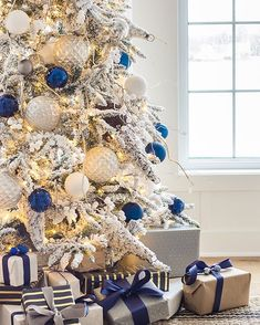 Blue Christmas Friday Feels – Christmas Tree and Winter Boots Blue Christmas Tree Decorations, Elegant Christmas Trees, Flocked Christmas Trees, Silver Christmas Tree, Christmas Themes, Cottage Christmas, Christmas Pictures, Rustic Christmas, Xmas Tree