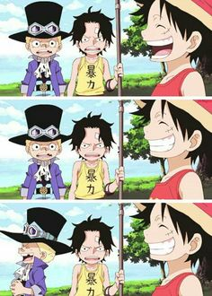 Ace,Sabo and Luffy are the sweetest brothers #One Piece #ASL