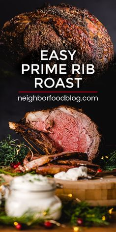It doesnt get any better (or easier) than this Salt and Pepper Crusted Prime Rib Roast recipe. Save this Prime Rib recipe for the holidays or anytime you want a celebration worthy dinner! This tender prime rib recipe is the perfect holiday menu idea too! Easy Prime Rib Roast Recipe, Boneless Prime Rib Recipe, Slow Roasted Prime Rib, Smoked Prime Rib, No Peek Prime Rib Recipe, Closed Oven Prime Rib Recipe, Salt Crusted Prime Rib Recipe, Prime Rib Oven Roast, Best Prime Rib Recipe Ever