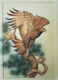 hawk paintings | painting; carved wood painting [hawk],Wholesale craftwork painting ...