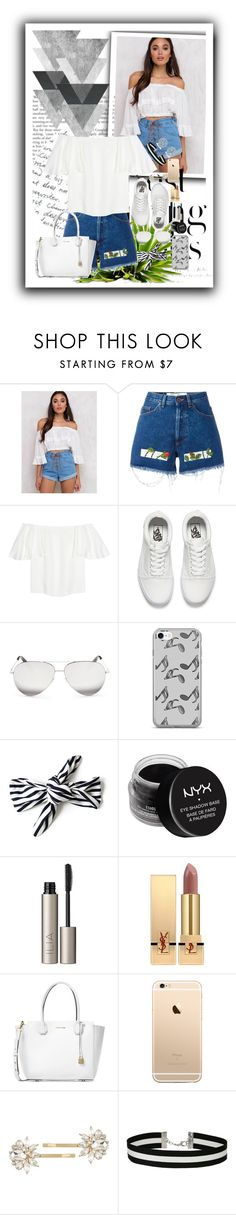 """Dia de shoping"" by marii-96-1 ❤ liked on Polyvore featuring Somedays Lovin, H&M, Off-White, Valentino, Vans, Victoria Beckham, Music Notes, NYX, Ilia and Yves Saint Laurent"