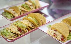 Tacos de carne e frango