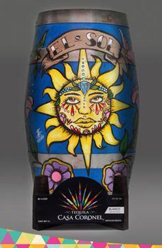 Tequila Casa Coronel / Artista: Juan Manuel Cabrera Belio Técnica: Óleo / El Sol / Lotería Mexicana