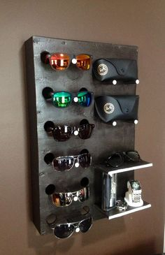 Build A Sunglasses Display Case Out Of A Wooden Box And Paint   Could  Probably Do