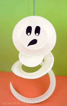 Paper Plate Ghost - Paper Plate Crafts for Kids - Easy Peasy and Fun