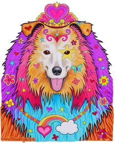 Cali The Colorful Collie From Thaneeya McArdles Dapper Animals Coloring Book