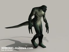 Lizard Man Monster | Lizard Man Monster 3D Model Free Download