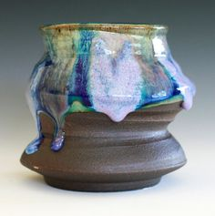 Funky and Twisted Ceramic Vase or Cup by ocpottery on Etsy, $23.00