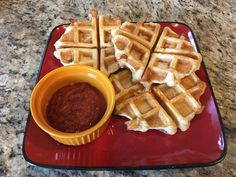 Yummy pizza waffles for the kiddos lunch today! They were a definite hit!