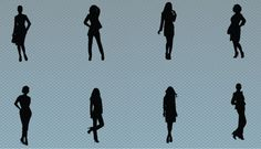When you are in an urgent need of different patterns of Silhouettes of Women, this vector will help you a lot. This is a rare collection of vector silhouettes available in the net Silhouettes#of#Women