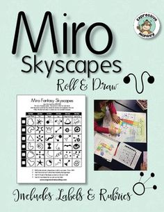 Use this roll and draw sheet, for a fun and engaging way to introduce students to the artist Joan Miro.  Students will create a surrealistic skyscape in the style of Joan Miro.Directions: Roll the dice and pick a large shape to add to your paper. Draw it BIG.