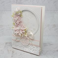 Delicate Fleur Handmade Greeting Card - Find out how to create this elegant greeting card with the Sun Kissed Fleur collection! Handmade Greetings, Greeting Cards Handmade, Card Making Tutorials, Making Ideas, Heartfelt Creations Cards, Paper Crafts, Diy Crafts, Mothers Day Cards, Handmade Flowers