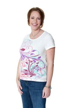 Protec Maternity Wear Cell Phone Radiation Fetal Protection Maternity T-Shirt - Small - Cream Floral Protec Maternity Wear TM. $69.00